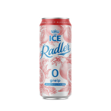 SAKU On Ice alkoholivaba Radler Greip 50cl (purk)